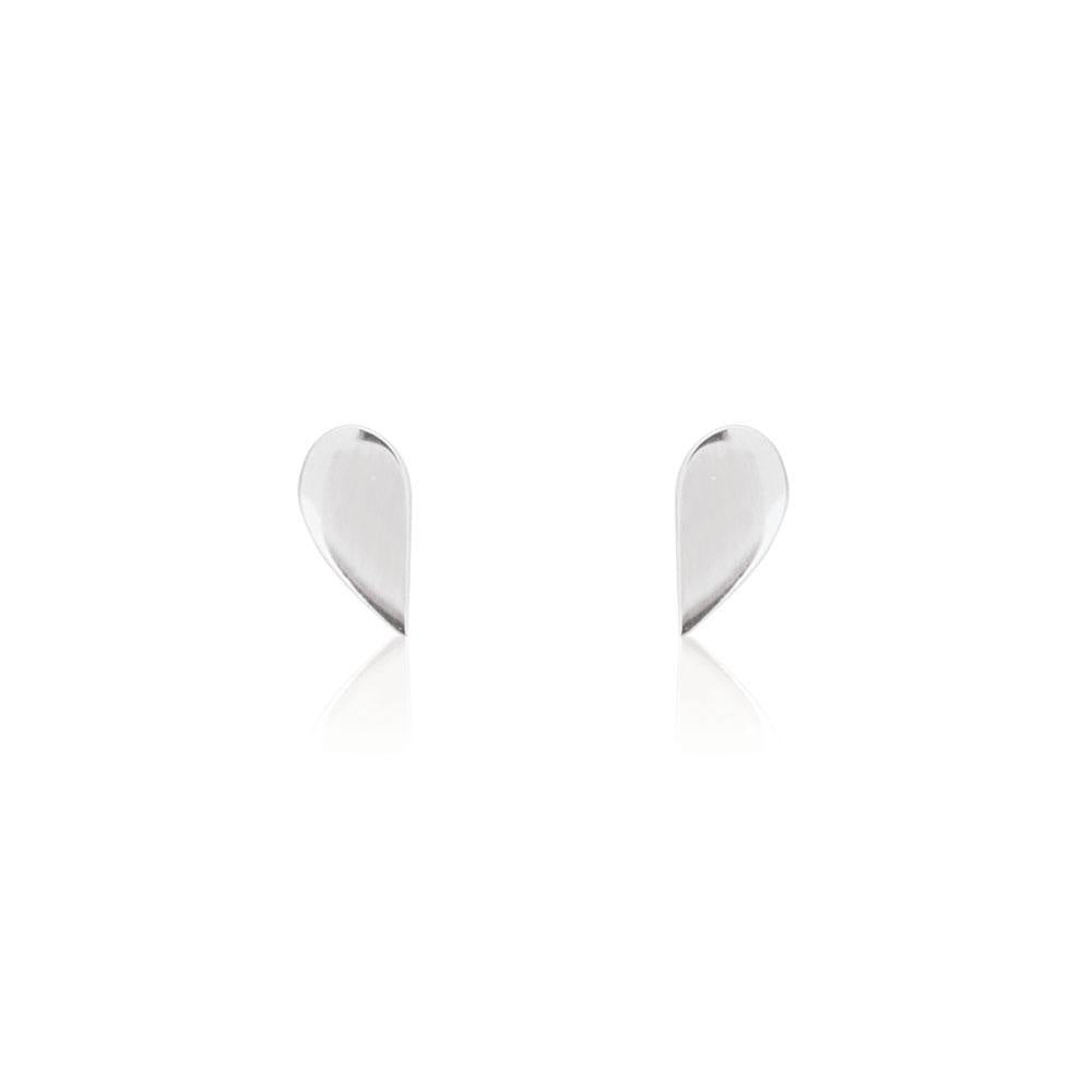 Half Stud Earrings Sterling Silver