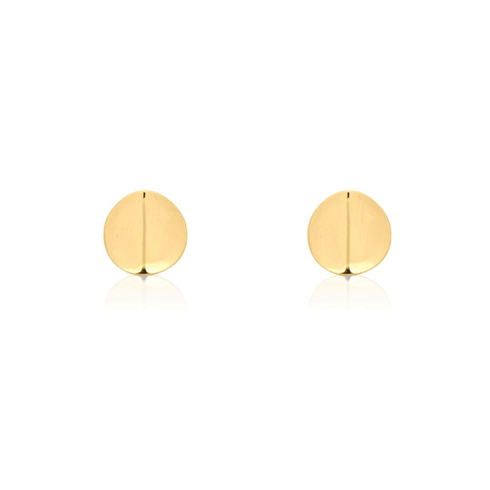 Ridge Stud Gold Plated Sterling Silver