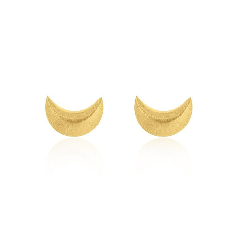 Crescent Moon Gold Plated Sterling Silver