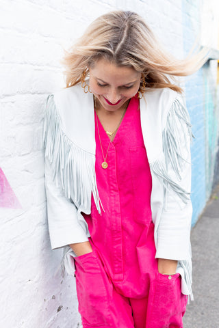Dress Like A Mum in Beyond Nine Hottest Pink Boilersuit