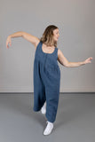 Savannah Jumpsuit - Denim Blue