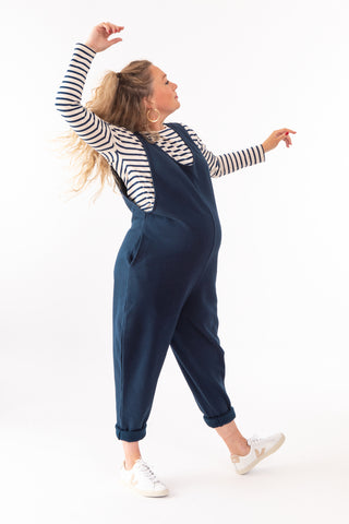 Laura Drop Arm 100% Organic Cotton - Petrol Navy