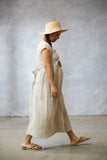 Linen Summer Dress - Natural
