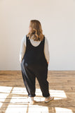 Laura Drop Arm Jumpsuit - Black