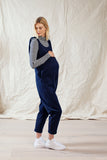 Dot Tie Shoulder Jumpsuit Navy