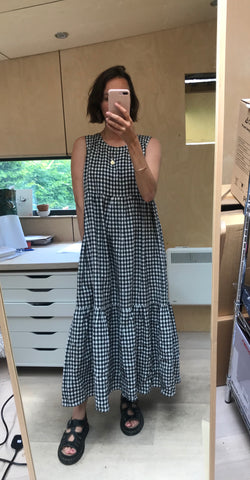 Evie Tiered Dress - Gingham