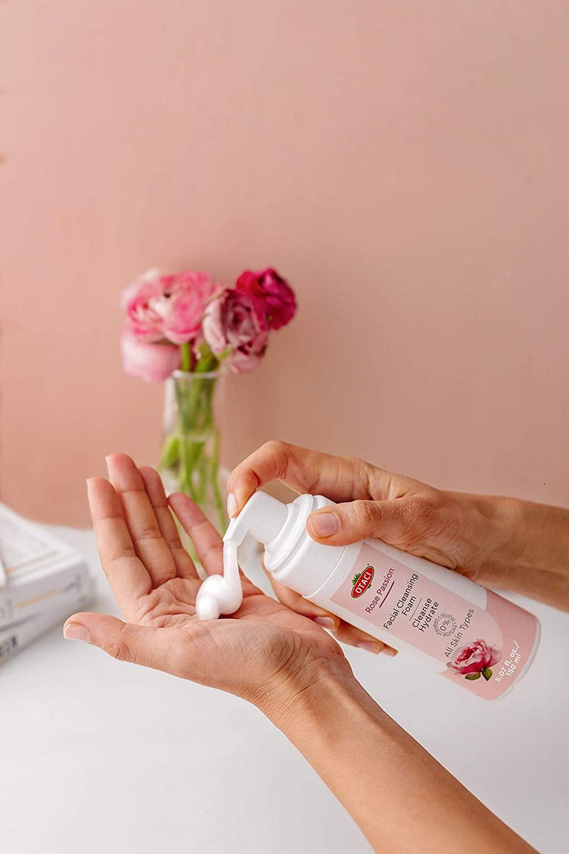Otaci Rose Water Face wash facial cleanser how to use
