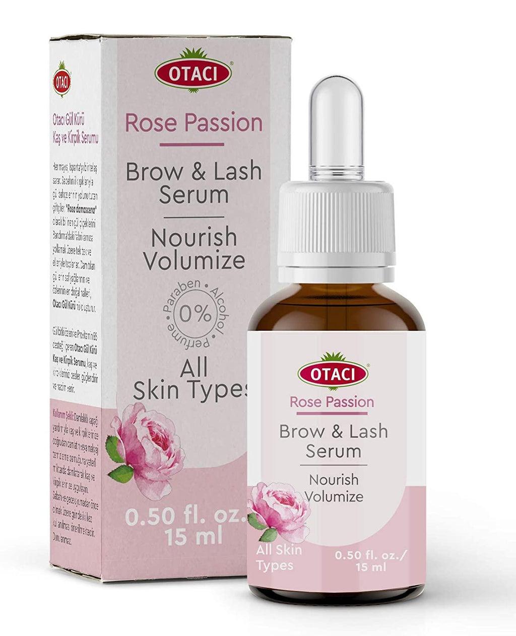 Rose water Eyelash serum eye brow serum