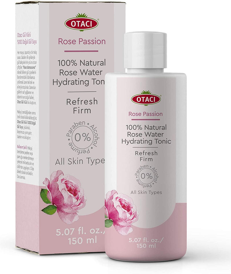 Rose water face toner 100% natural by Otaci