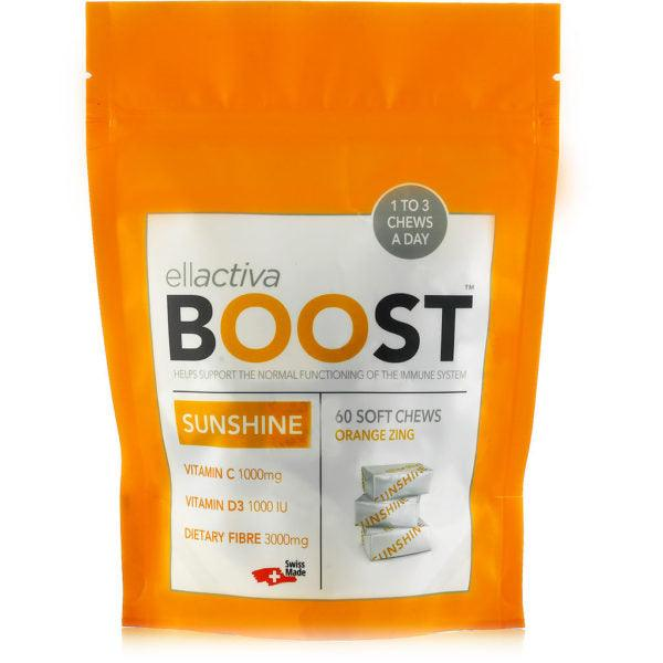 ELLACTIVA BOOST™ SUNSHINE ZINGY ORANGE | 60 SOFT CHEWS
