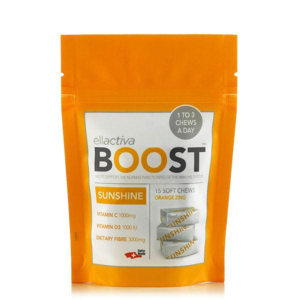 ELLACTIVA BOOST™ SUNSHINE ZINGY ORANGE | 15 SOFT CHEWS