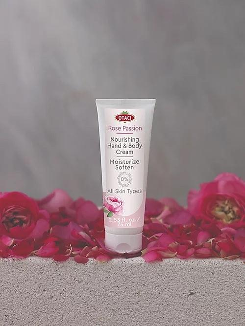 OTACI Rose Passion Nourishing Hand and Body Cream | Natural Lotion Skin Moisturizer