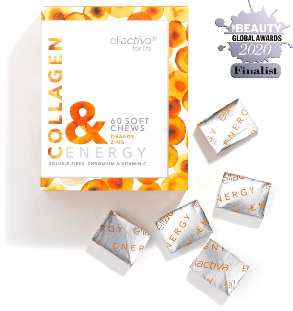 ELLACTIVA COLLAGEN& ENERGY ZINGY ORANGE | 60 SOFT CHEWS