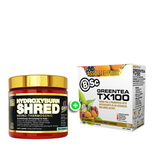 HydroxyBurn Shred Neuro-Thermogenic + TX100 Green Tea 20 Serves