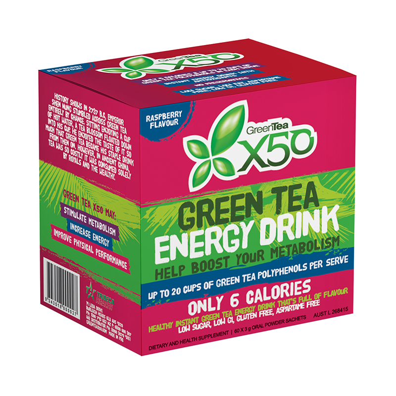 X50 Green Tea Raspberry Flavour