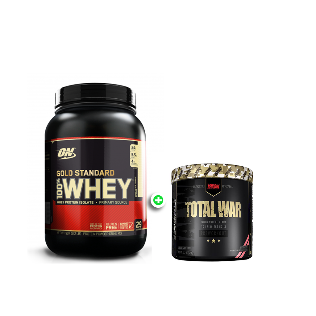 Optimum Nutrition Gold Standard 100% Whey 2lbs + REDCON1 Total War 30 Serves