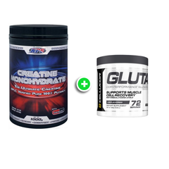 APS Creatine Monohydrate 1kg + Cellucor Glutamine V2 72 Serves