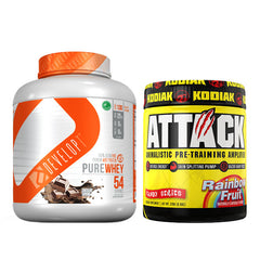 DEVELOPT - PUREWHEY + ATTACK PRE-WORKOUT BY KODIAK SPORTS
