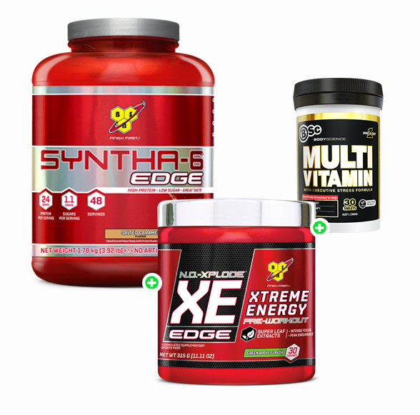 BSN NO Xplode Xe Edge 30 Serves + BSN Syntha-6 Edge 45 Serves + BSc Multi Vitamin