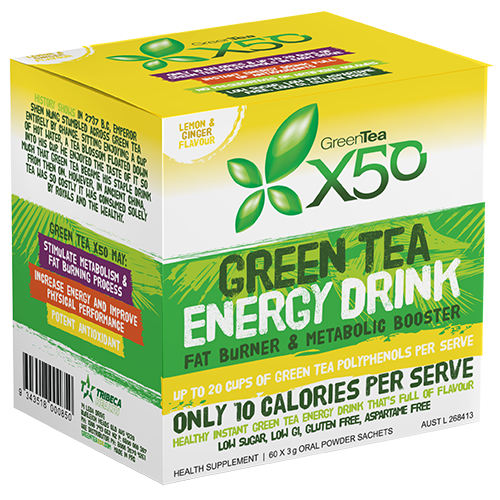 X50 Green Tea Lemon & Ginger Flavour