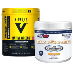EHP Labs OxyShred + Victory Labs Native Greens
