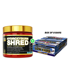 BSc Hydroxyburn Shred 60 Serves Plus BSc High Protein Low Carb 60g Bar(8pcs)
