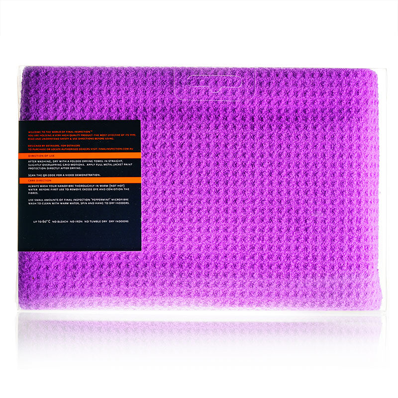 Waffle Weave Drying Towel -Final Inspection Car Care Products