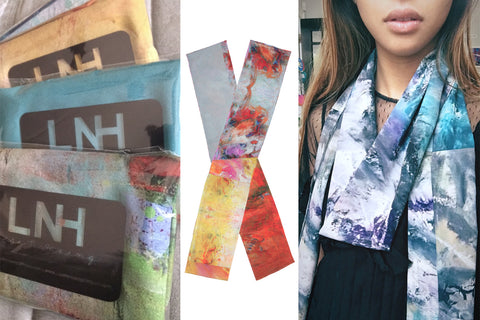 Lisa N. Hoang Painted Scarves