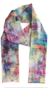 Bermuda Painted Scarf,Susan Woodson - Moondog Fine Arts
