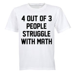 4 Out Of 3 People - Adults - T-Shirt - BuyAbility South Africa