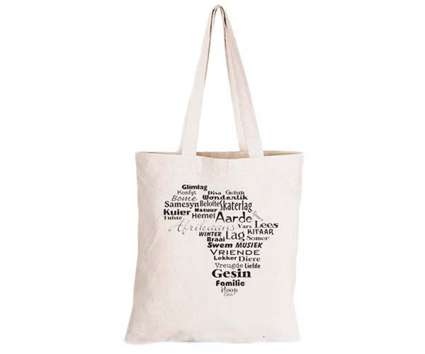 This is Africa - Afrikaans Version - Eco-Cotton Natural Fibre Bag - BuyAbility South Africa