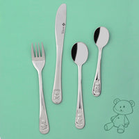 4Pc Baby Cutlery Set - Teddy Bear - BuyAbility South Africa