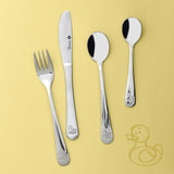 4Pc Baby Cutlery Set - Duck - BuyAbility South Africa