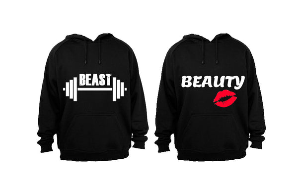 GYM Beast & Beauty - Couples Hoodies (1 Set) - BuyAbility South Africa