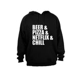 Beer & Pizza & Netflix & Chill - Hoodie - BuyAbility South Africa