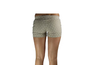 Beige Women's Shorts With White Polka dots - BuyAbility