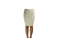 Beige Skirt with Golden Zips - BuyAbility South Africa