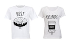 Best Friends - Doughnut & Coffee - Couples Tees
