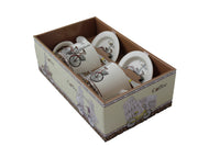Bicycle Eiffel Tower Coffee Gift Box with 2 Printed Cups, Saucers & Spoons - BuyAbility South Africa