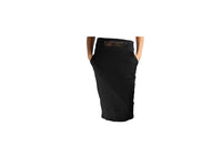 Long Black Pencil Skirt with Gold Belt Accessory - BuyAbility South Africa