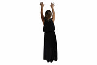 Long Black Dress with Rope Detail - BuyAbility South Africa