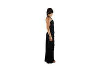 Long Black Evening Dress with Silver Sparkle - BuyAbility South Africa