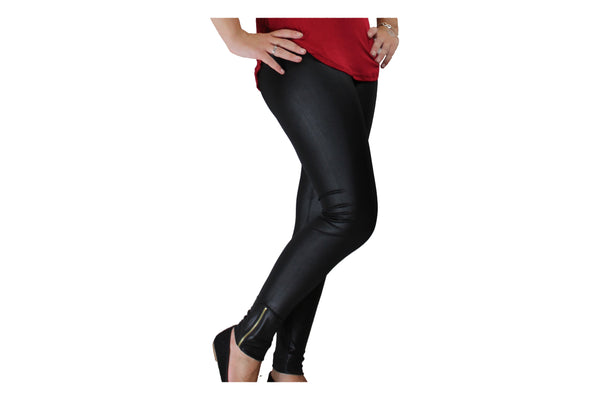 Black Leggings With Ankle Zipper - BuyAbility South Africa