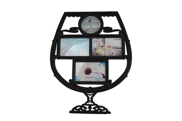 Wine Glass Frame, Black - BuyAbility South Africa
