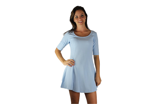 Light Blue Dress with Sleeves