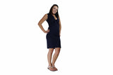Navy Blue V-Neck Dress - BuyAbility