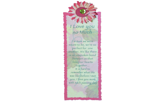 Orange Flower – Handmade Bookmark with 'I Love you so much' Script - BuyAbility