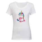 Bubblegum Unicorn - Ladies - T-Shirt - BuyAbility South Africa