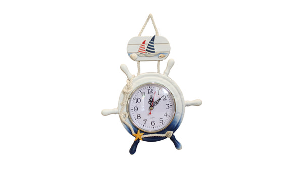 Nautical Hanging Clock With Sail Boats - BuyAbility South Africa