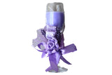 Champagne Scented Candle Glasses with Flower Ribbon – Purple, Lavender Aroma - BuyAbility South Africa